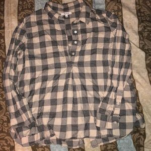 Madewell Checkered button down top